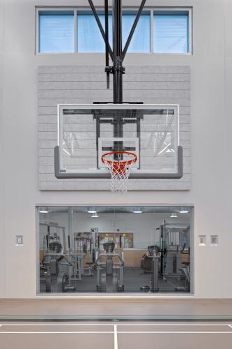 Interior, gymnasium